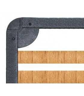 Rete a doghe con telaio in ferro e doghe in legno di faggio a modello Fissa - REDEN