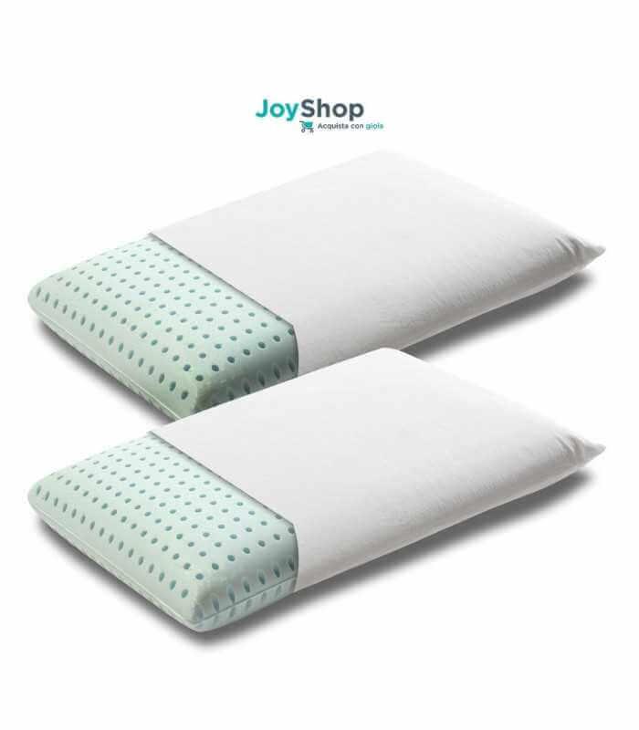 Coppia di cuscino memory HD di alta qualità in offerta con tessuto in cotone sfoderabile - young H12