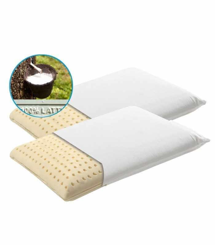 Coppia cuscini in schiuma di lattice con federa in cotone Sfoderabile - NOTTURNO H11