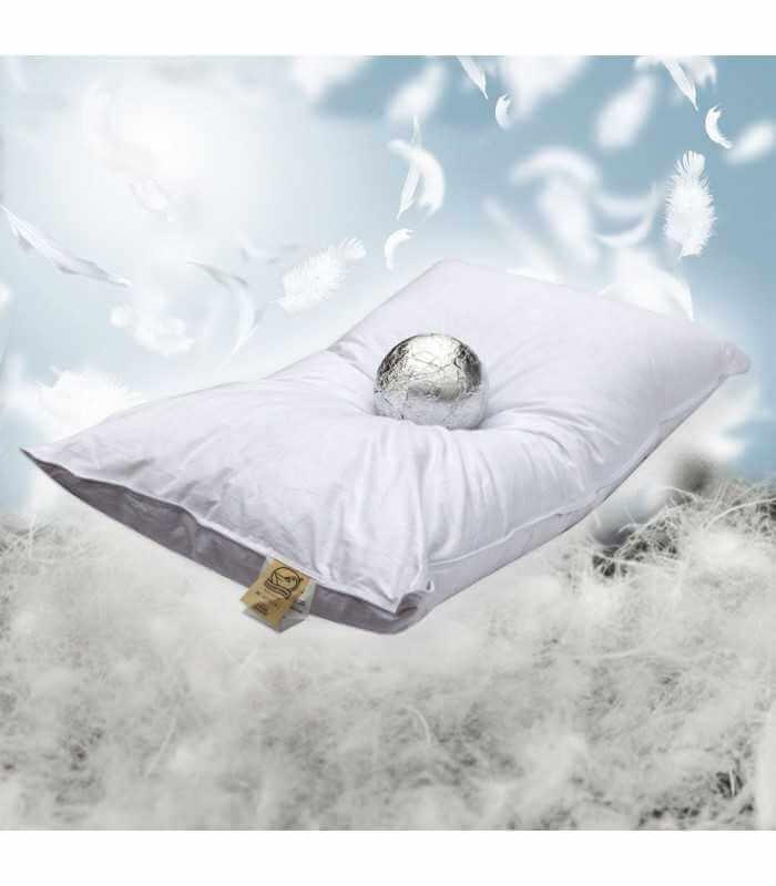 Cuscino piuma d'oca e piumino soffice con federa speciale in cotone alto 15 cm