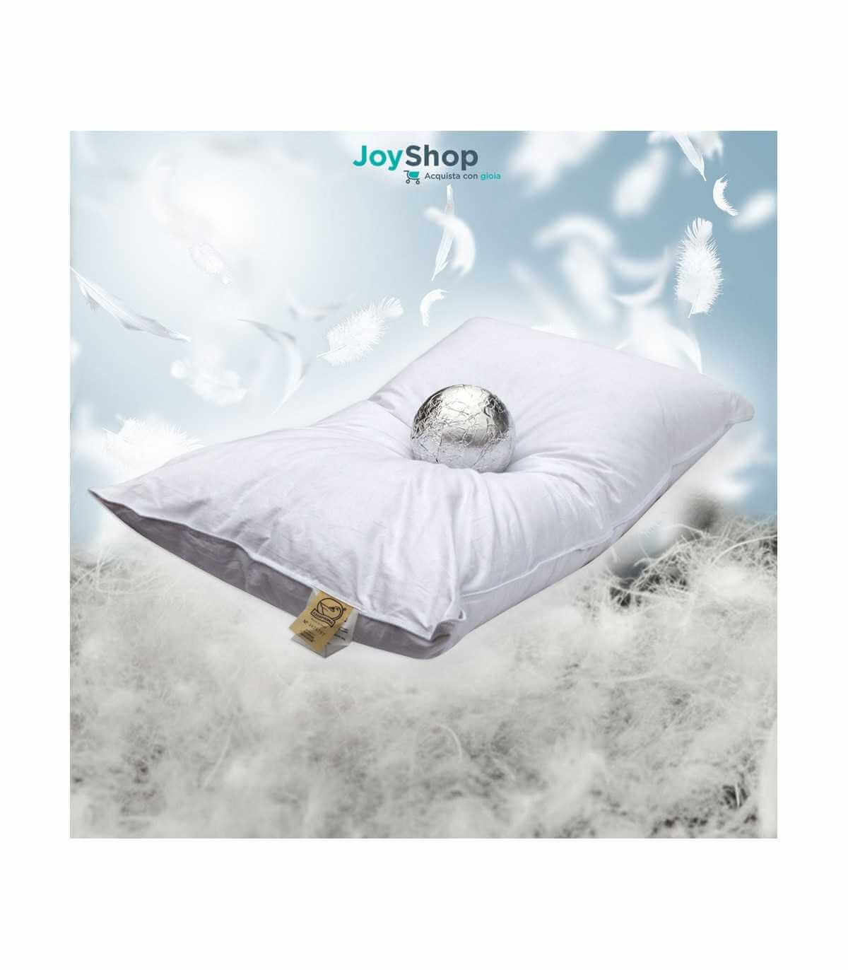 Cuscini Con Piume.Cuscino In Piuma D Oca E Piumino Morbido Con Tessuto In Cotone