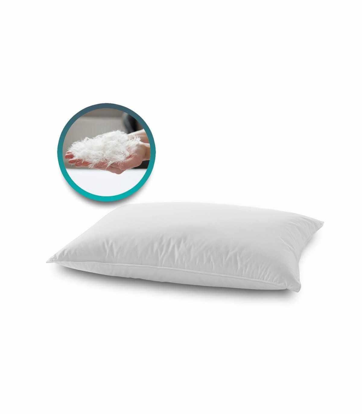 Cuscino in piuma d'oca e piumino morbido con tessuto in cotone