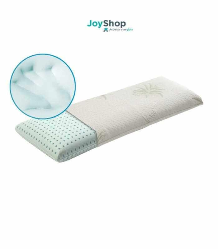 Guanciale grande per il letto a misura 105x35 alto 12 cm con tessuto ALOE VERA