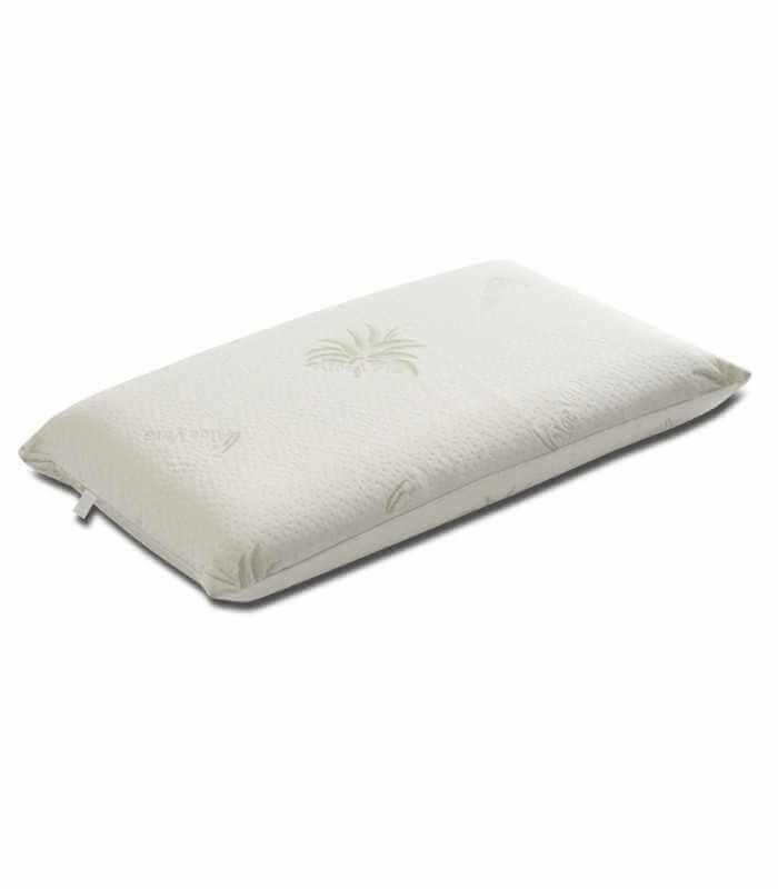 Guanciale matrimoniale grande per il letto a misura 150x35 alto 12 cm con tessuto ALOE VERA