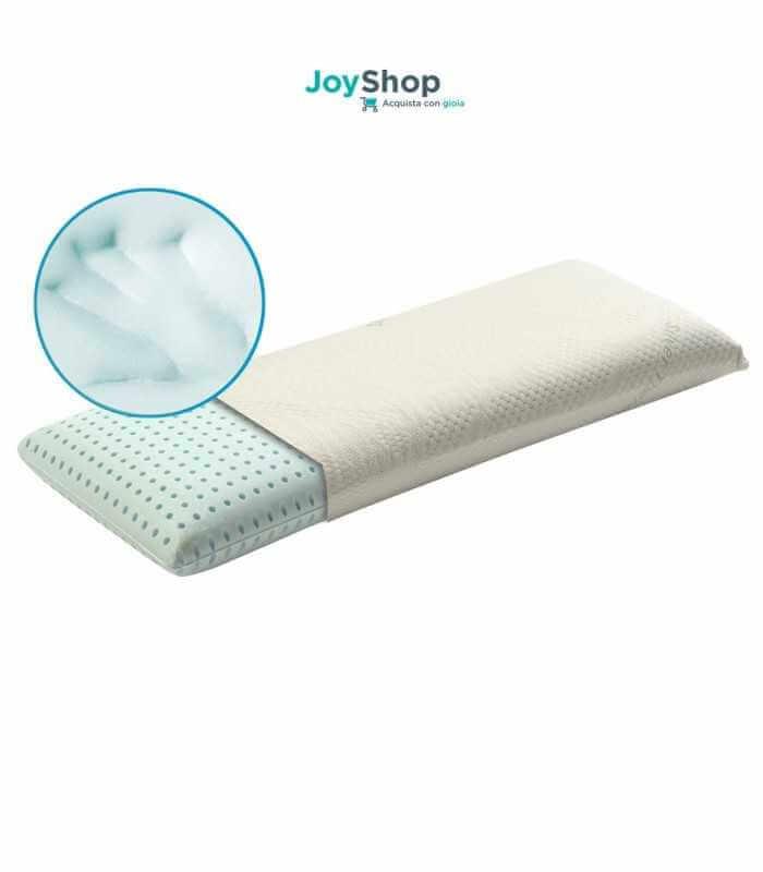 Guanciale matrimoniale grande per il letto a misura 150x35 alto 12 cm con tessuto ARGENTO