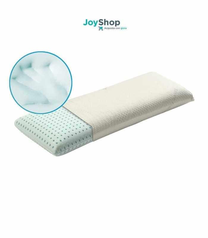 Guanciale grande per il letto a misura 105x35 alto 12 cm con tessuto ARGENTO
