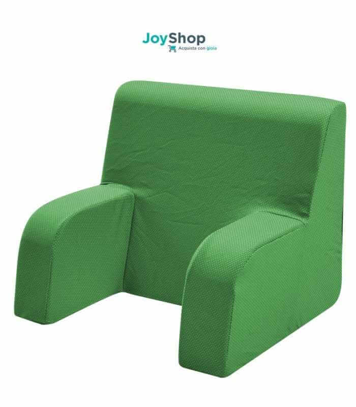 Schienale ortopedico, poltroncina da letto con tessuto sfoderabile e lavabile - Comodone L