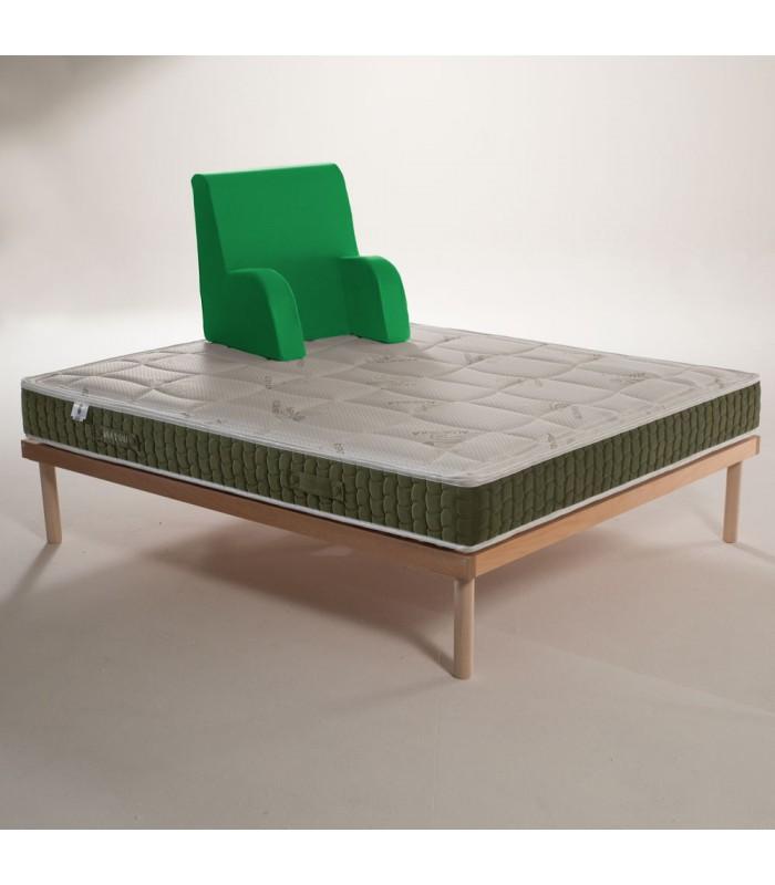 Schienale ortopedico, poltroncina da letto con tessuto sfoderabile e lavabile - Comodone XL
