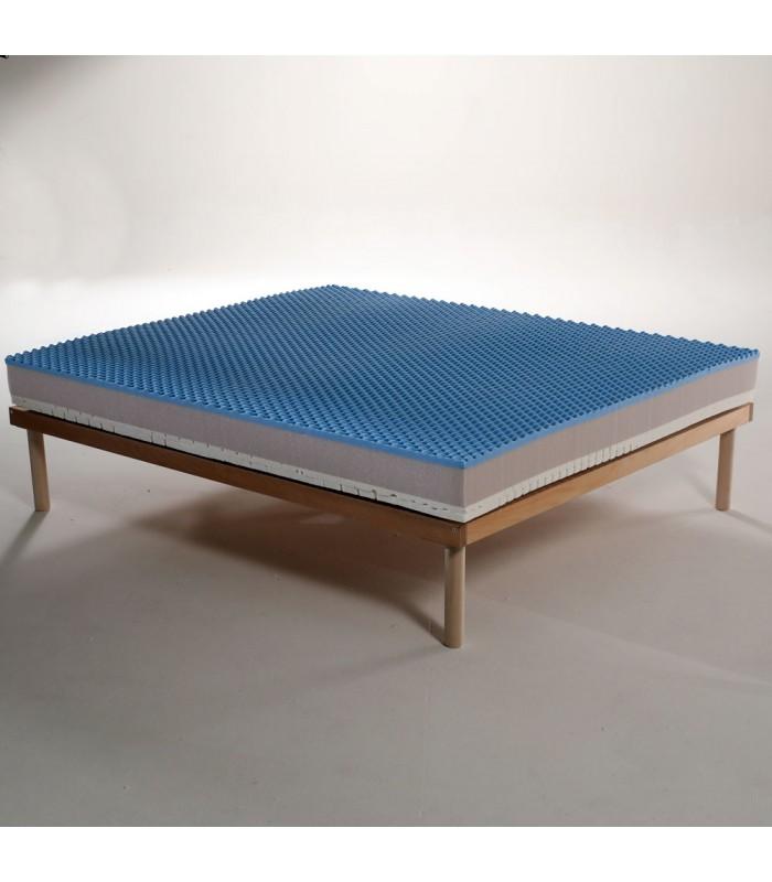 Materasso Memory e lattice alto 21 cm adatto ad ogni stagione. Tessuto termo regolatore - DOUBLE COMFORT