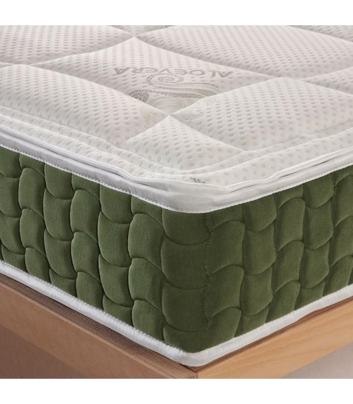 Materasso rigido in lattice e waterfoam alto 20 cm con tessuto energizzante in Aloe - J. LATEX