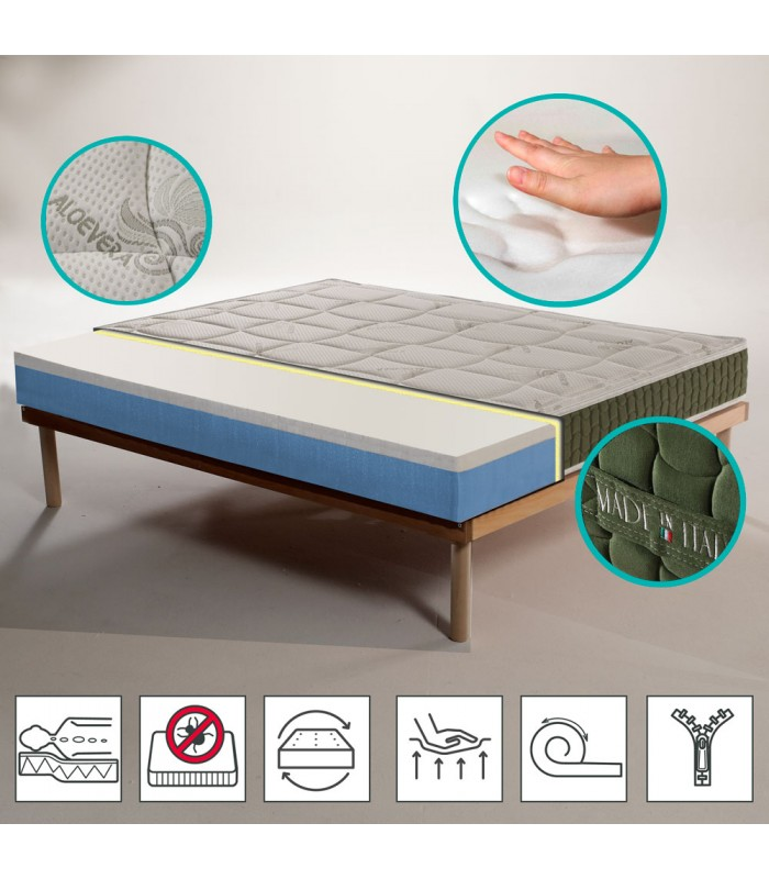 Orthopedic Mattress in memory at the best price H20 cm - ECOJOY 15+3 MADE IN ITALY