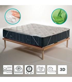 Topper memory foam in offerta speciale con tessuto traspirante 3D alto 4 cm
