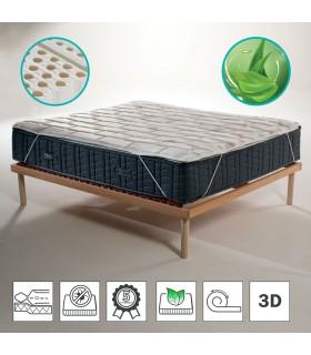 Topper 100% lattice in offerta con speciale tessuto traspirante 3D alto 4 cm