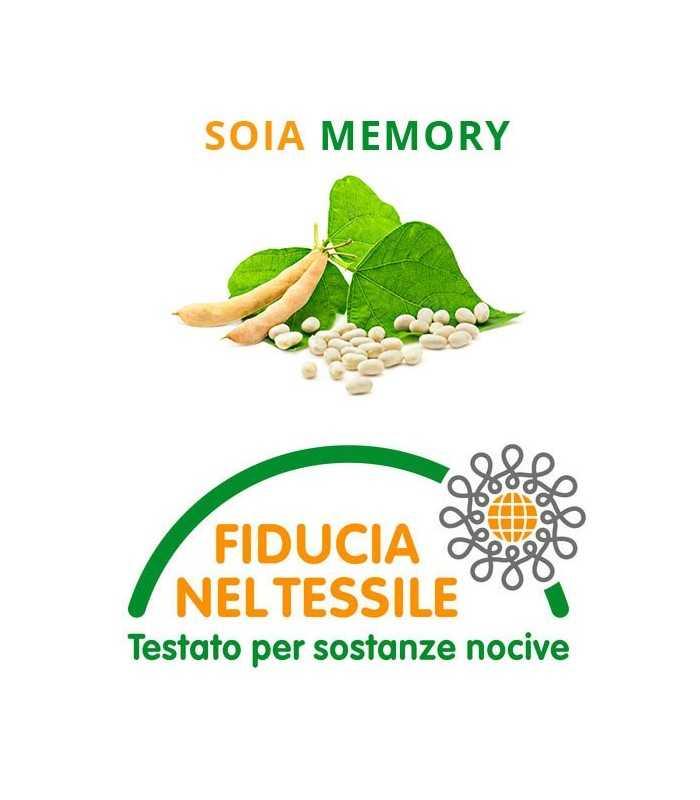 Materasso Memory soia H25 multi onda e tessuto in Argento - Rose