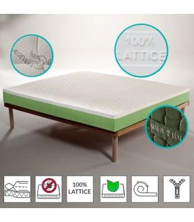 copy of Materasso rigido in lattice e waterfoam alto 20 cm con tessuto energizzante in Aloe - J. LATEX