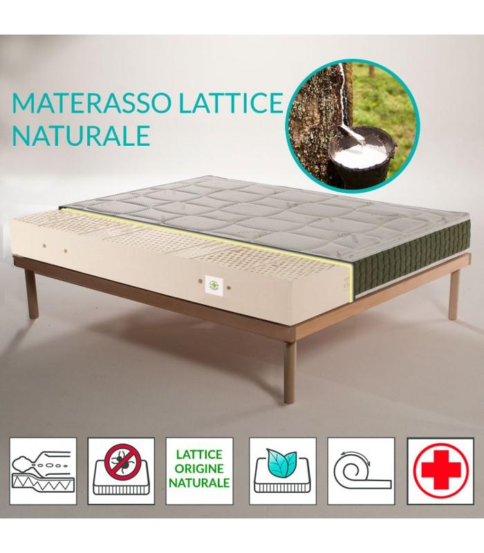 copy of Materasso lattice di origine naturale a zone con tessuto Aloe alto 20 cm - POLARIS
