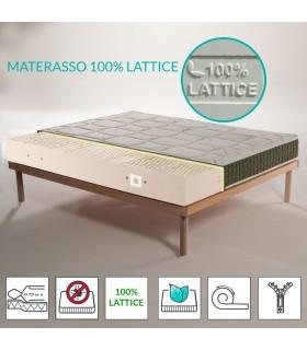 copy of Materasso 100% lattice a 7 zone differenziate con tessuto Aloe vera alto 22 cm - JUPITER