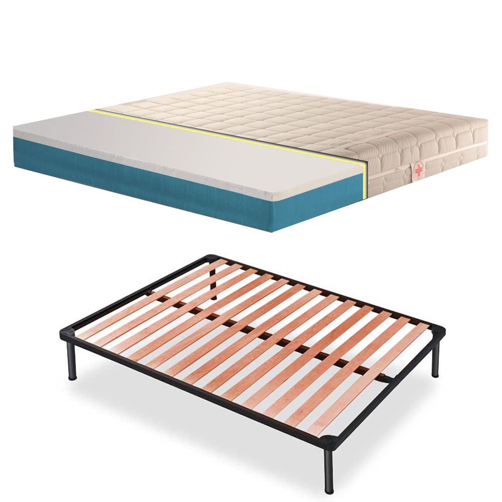 Materassi Lattice E Memory Foam.Kit Slatted Base And Mattress Danjoy 15 7 Orthopedic Memory